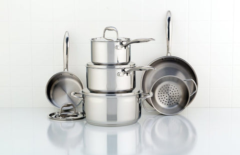Accolade Stainless Steel Cookware Set, 10-Piece Meyer