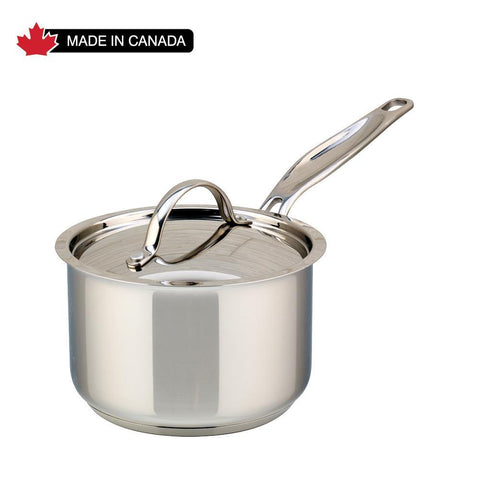 Meyer Confederation Stainless Steel 1.5L Saucepan with cover, Made in Canada