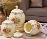 3piece Canister Set-Flower