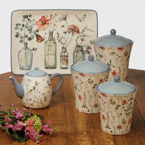 3pc Canister Set-Country Weekend