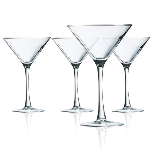 Martini 10oz Glass 4 piece set Cachet Luminarc
