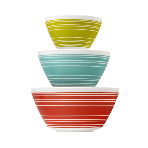 Pyrex 3pc Bowl Set Memory Lane