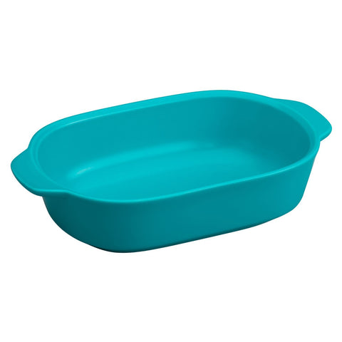 CW by CorningWare 1.5 Quart Blue Oblong Casserole, Pool