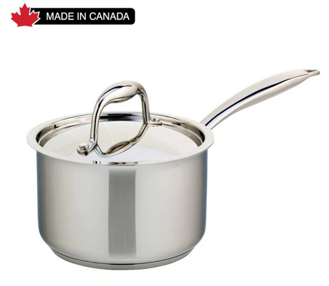 Meyer Accolade Stainless Steel 2L Saucepan with cover, Made in Canada