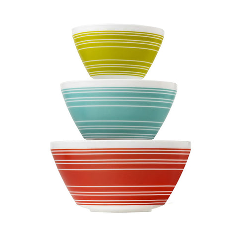 Pyrex 6pc Bowl Set Memory Lane