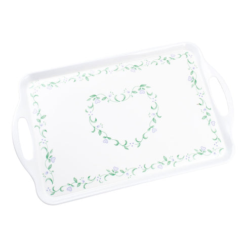 "Corelle Coordinates 11.5"" x 18"" Melamine Serving Tray Country Cottage"