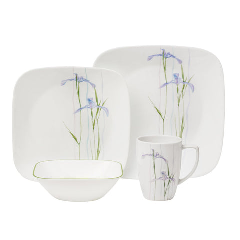 Corelle 16pc Dinnerware Set Shadow Iris