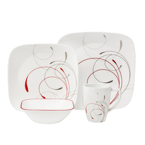 Corelle Splendor 16-piece Square Dinnerware Set