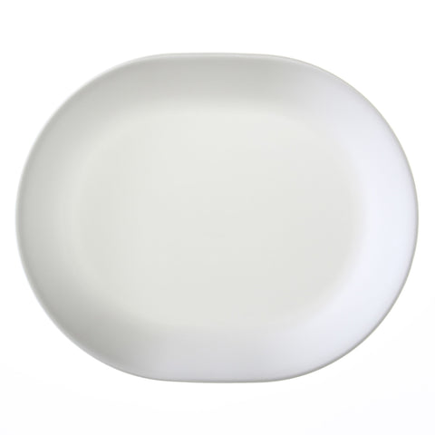 "Corelle Winter Frost White 12.25"" Serving Platter"
