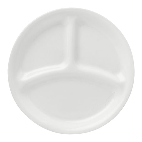 "Corelle Winter Frost White 8.5"" Divided Dinner Plate"