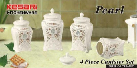 4pc Canister Set Pearl