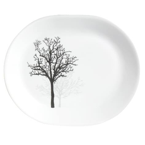 "Corelle Timber Shadows 12.25"" Serving Platter"