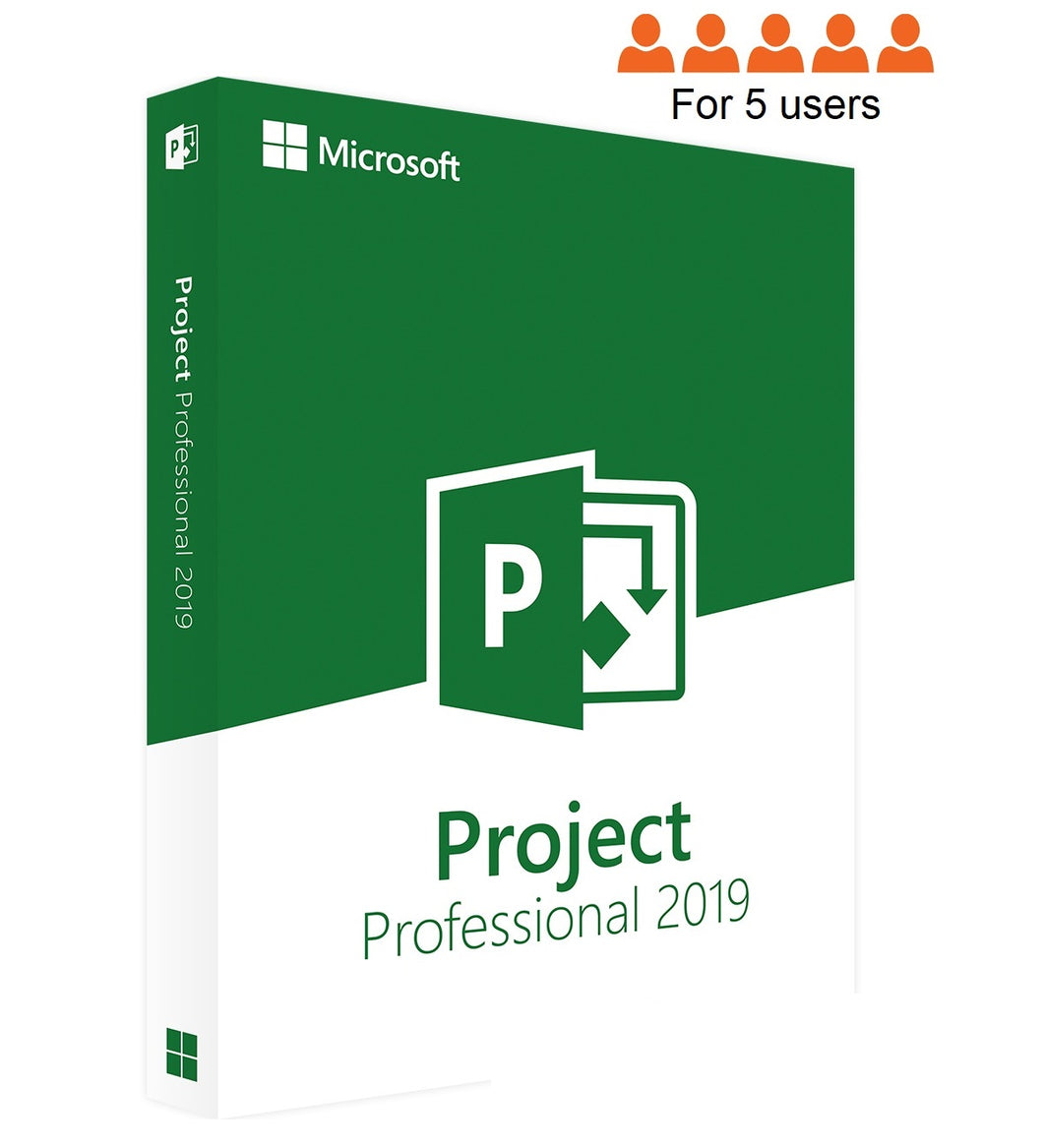 Microsoft Project 2019 Professionnel pour 5 postes - Ma Licence