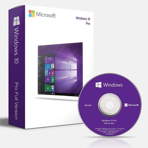 Windows 10 Pro DVD 64 bits - Ma Licence