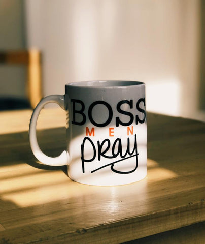 Boss Men Pray Coffee Mug