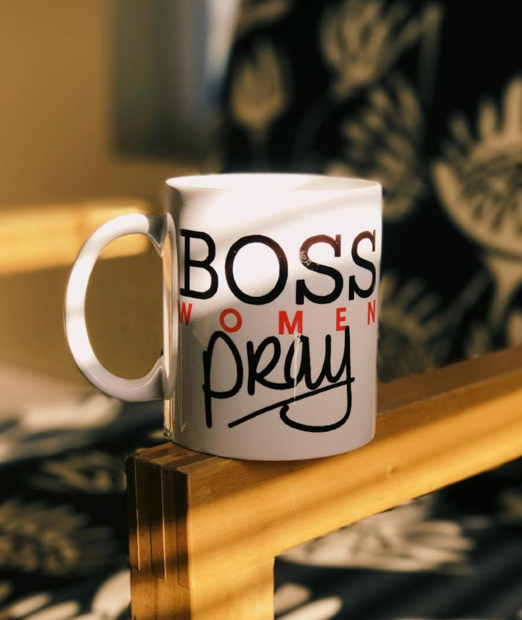 Boss Women Pray Coffee Mug