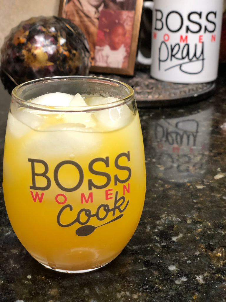 Boss Women Cook Stemless Wine Glass
