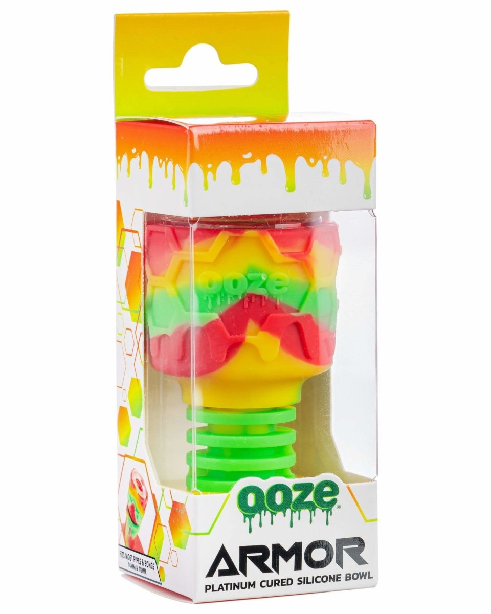 Ooze Armor Silicone Bowl and Mouthpiece Rasta