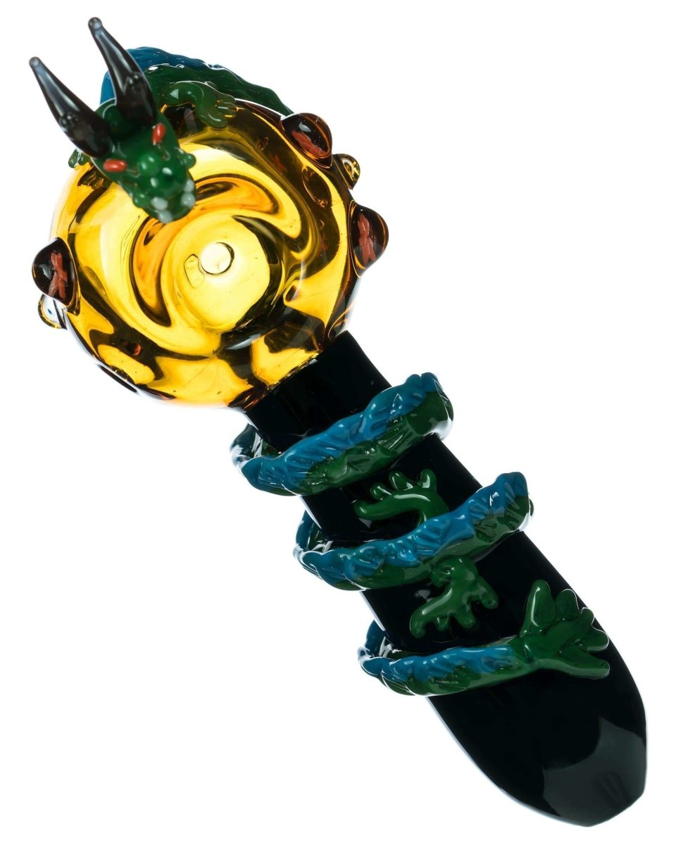 Dragon Themed Mini Spoon Pipe - Empire Glassworks