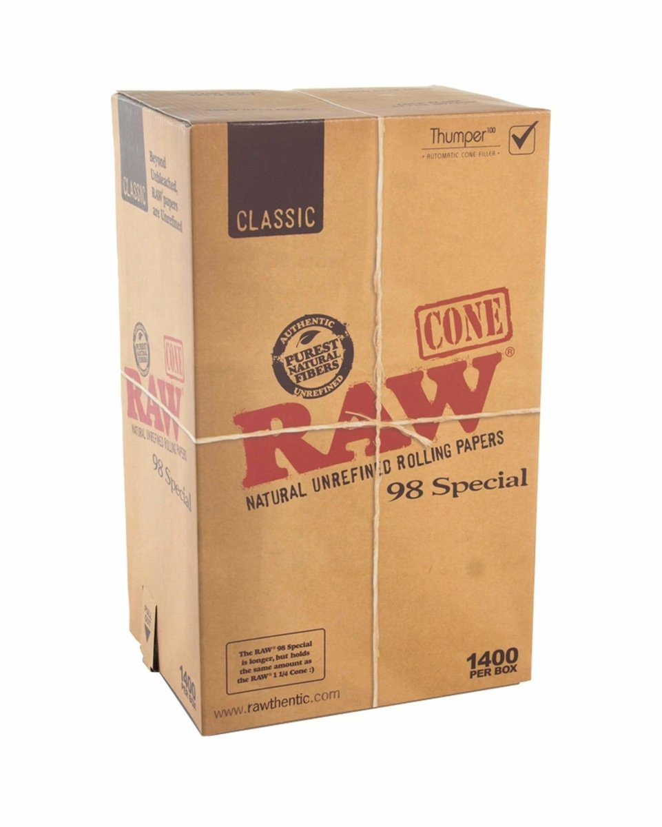 Pack of 1,400 Pre-Rolled King Cones - RAW