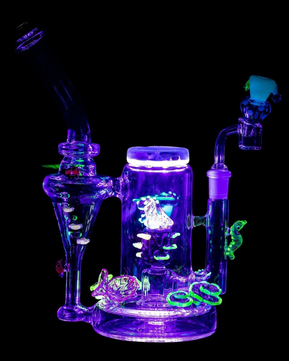 Self Illuminating Forest Night Themed Recycler - Empire Glassworks