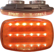 AMBER SAFETY STROBE W/HD MAGNETS