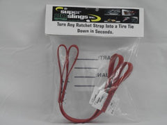 "1"" TIRE SECUREMENT STRAP (PAIR)-TURN ANY 1"" RATCHET STRAP INTO A TIRE TIE DOWN- WLL 850 LBS"