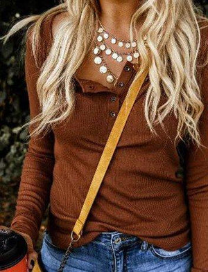 Casual Long Sleeve Plain Sweater