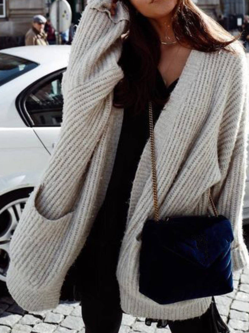 Gray Cocoon Casual Sweater