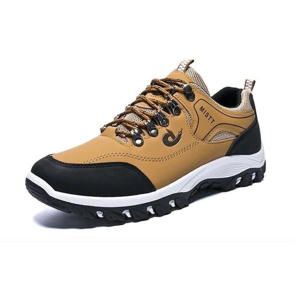 Men Sports Casual Wearable Hiking Sneakers Male Non-slip Running Quality Leather Shoes