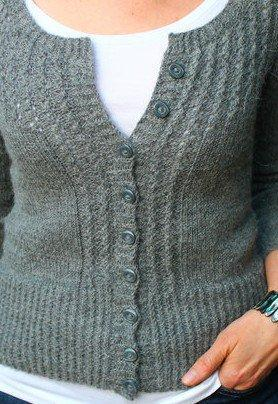 Casual Solid Knitted Buttoned Sweater