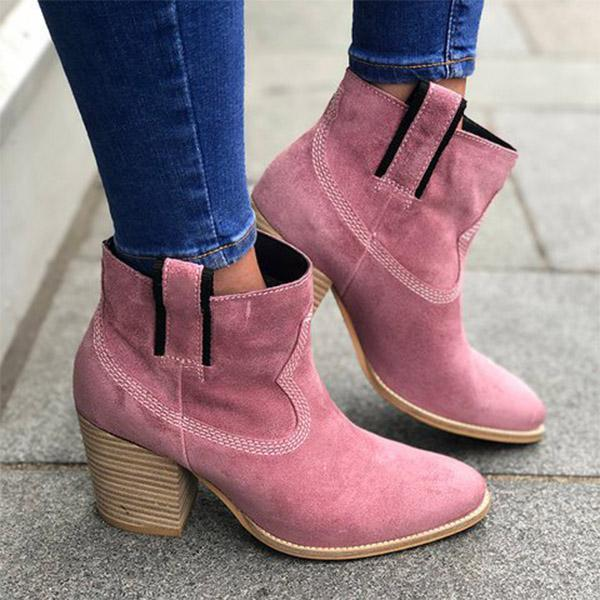 Sweet Middle Chunky Heel Boots