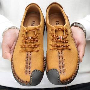 Men's Comfortable Casual Loafers Shoes Split Leather Flats Moccasins Shoes