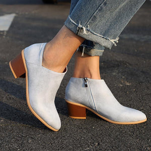 Plus Size Chunky Heel Shoes
