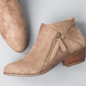 Spring/Autumn Slip-On Ankle Boots