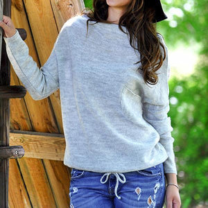 Casual Loose Solid Color Women's Sweaters