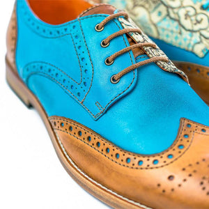 Handmade Paisley Pattern Oxford Leather Shoes