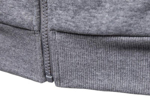 Mens Sweatshirts Solid Hoody Fleece Thick Hoodies Men Sportswear Zipper Sweatshirts
