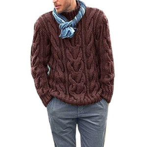 Men's Pullover Casual Soft and Comfortable Pullover coat Thick warm Hand-knitted Cool Sweater