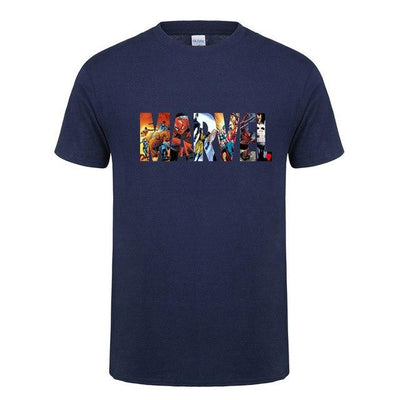 Corachic.com - Men's MARVEL Short Sleeve T-shirt Superhero Print O-neck Tee Tops