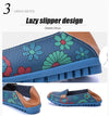 Women Genuine Leather Flats Casual Round Toe Slip On Loafers Shoes