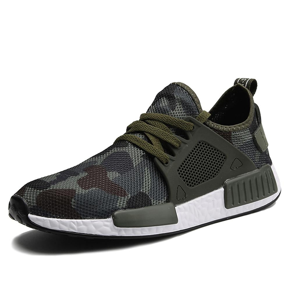 Men Casual Army Green Camouflage Footwear Sneakers Shoes