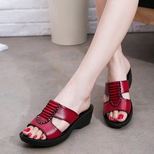 Women Mother Soft and Comfortable Large Size Sandals Shoes