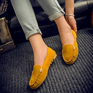 Plus Size Women Flats Shoes Candy Color Slip On Flat Comfortable Loafers Shoes
