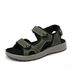 Men's Genuine Leather Beach Sandals Summer Gladiator Outdoor Shoes