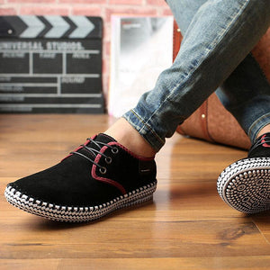 Men High End Suede Breathable Non-slip Casual Sneakers Shoes