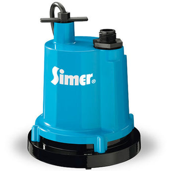 "Simer Pump-2300 1/4 HP Electric Motor, 1 1/4"" NPT discharge, 1320 GPH, 8 ft. cord - LionCove"