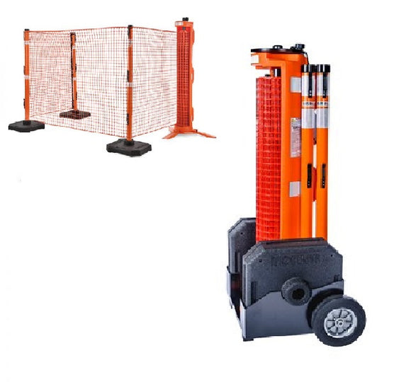 RapidRoll Portable Safety Barrier Wheeled Fencing System