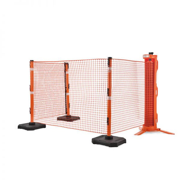 RapidRoll Portable Safety Barrier 3-Legged Fencing System