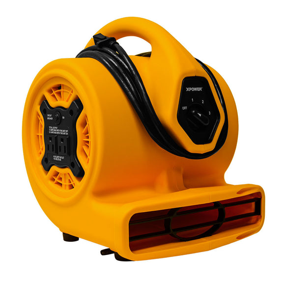 XPOWER P-130A 1/5 HP Mini Air Mover - Mini Air Mover - XPOWER